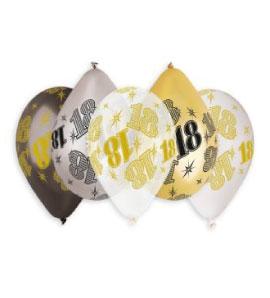 Балони с щампа – Цифра 18