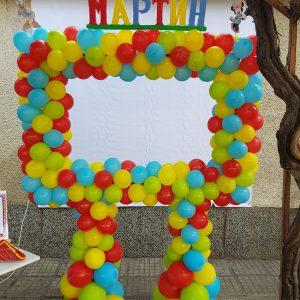 Рамка за снимки от балони