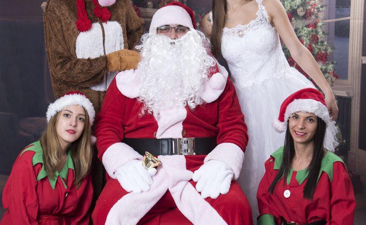 Коледно парти с Дядо Коледа , Снежанка и джуджетата