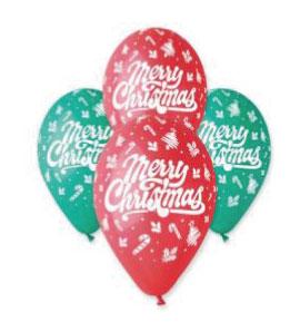 Балони с щампа – Merry Christmas