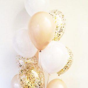 Букет от балони с хелий – Конфети