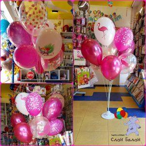 Букет от балони на метална стойка