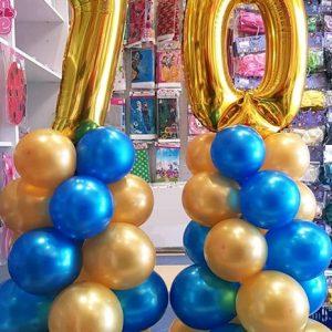 Балони цифри на колона