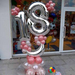 Балони цифри в композиция – 18