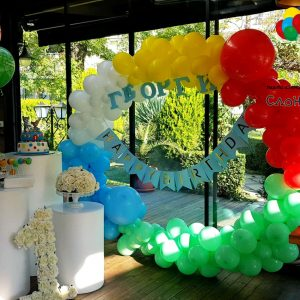 Декор – Цветен кръг от балони