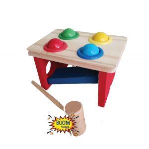 Дървена игра с чукче