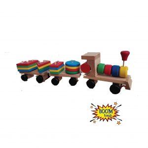 Дървен влак – геометрични фигури