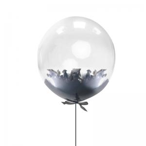 Балон с черни пера – 45 см