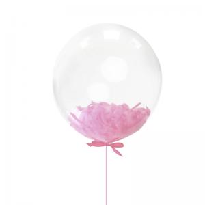 Балон с розови пера – 45 см