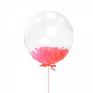 Балон с червени пера – 45 см
