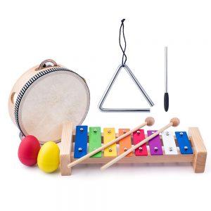 Дървен комплект музикални инструменти